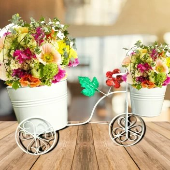 Gig Handicrafts Pot Cycle With Pink Lining Double Pot Cycle Cart