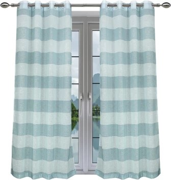 linenwalas 243 84 cm 8 ft polyester shower curtain pack of 2