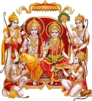 god & god's Large Ram Ji Ka Darbar Modern Art Sticker Price in ...