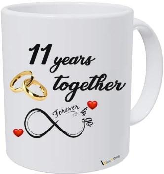 Blinknshop Happy Marriage Anniversary Happy Wedding Anniversary 11 Years Ceramic Coffee Mug Price In India Buy Blinknshop Happy Marriage Anniversary Happy Wedding Anniversary 11 Years Ceramic Coffee Mug Online At Flipkart Com