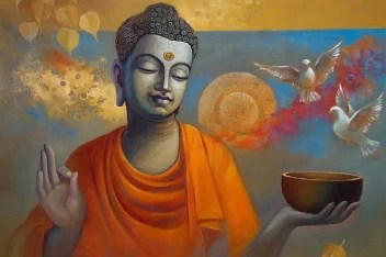 Lord Gautam Buddha Painting Poster Fully Waterproof Canvas Print For Living Room Bedroom Office Kids Room Hall Canvas Art Religious Posters In India Buy Art Film Design Movie Music Nature And Educational Paintings Wallpapers At