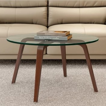 durian tony brown glass coffee table