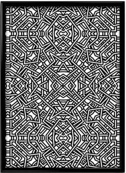 Psycedelic Doodle Art Paper Print Nature Educational