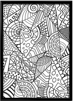 Indian Handmade Doodle Art Paper Print Music Floral Botanical