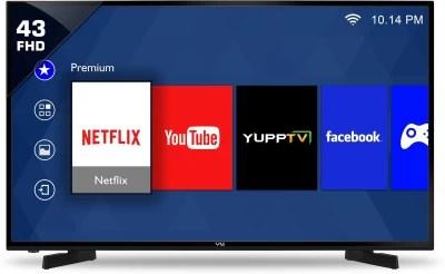 Vu 109cm (43) Full HD LED Smart TV(43D6575)
