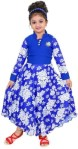 FTC FASHIONS Girls Maxi/Full Length Party Dress(Blue, Full Sleeve)
