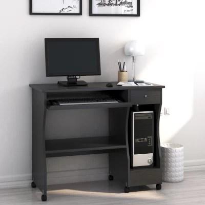 Nilkamal Zenith Engineered Wood Computer Desk(Straight, Finish Color - Black Walnut)