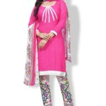 Gee Next Creation Poly Crepe Printed, Floral Print Kurta & Churidar Material(Unstitched)