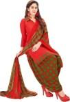 Saara Crepe Floral Print, Printed Salwar Suit Material(Unstitched)