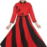 FTC FASHIONS Girls Maxi/Full Length Party Dress(Red, 3/4 Sleeve)