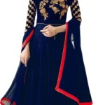 Trilok Fab Girls Maxi/Full Length Party Dress(Dark Blue, 3/4 Sleeve)