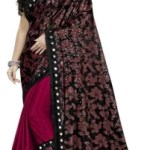 G-Stuff Fashion Printed, Embellished Bollywood Lycra Blend Saree(Multicolor)