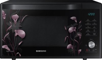 Samsung 32 L Convection Microwave Oven(MC32J7055VB/TL, Black with Lily Pattern)