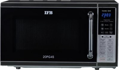 IFB 20 L Grill Microwave Oven(20PG4S, Metallic Silver)