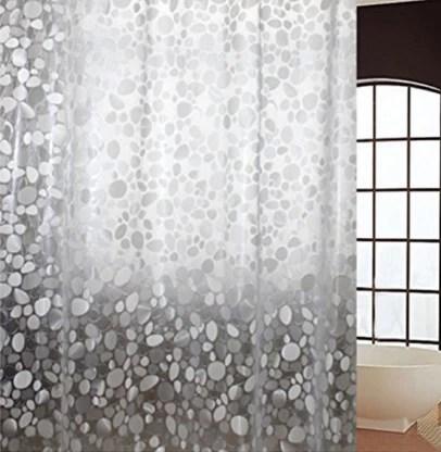 kuber industries 270 cm 9 ft pvc polyvinyl chloride shower curtain single curtain