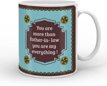 Indigifts Decorative Gift Items Gift For Father In Law Fathers Birthday Gift Dad Gift For Papa Fathers Day Gift S Mugcrwh01ro11 Ilf17011 Ceramic Coffee Mug Price In India Buy Indigifts Decorative Gift Items