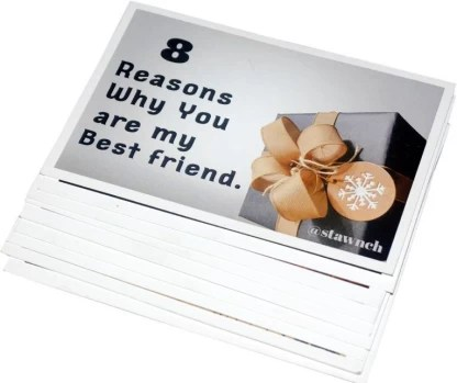 Stawnch Birthday Gift For Best Friend Birthday Gifts For Girls 8 Girl Girl Reasons Why You Are My Best Friend Greeting Cards Greeting Card Price In India Buy Stawnch Birthday Gift For Best