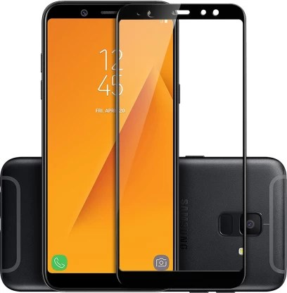 Avalik Edge To Edge Tempered Glass for Samsung Galaxy A6 Plus  (Pack of 1)