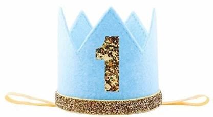 Imagitek Baby Boy First 1 Birthday Crown Hat Photo Prop Party Supplies Favors Blue Baby Boy First 1 Birthday Crown Hat Photo Prop Party Supplies Favors Blue Shop