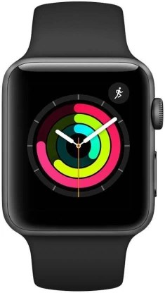 Apple Watch Series 3 GPS - 38 mm Space Grey Aluminium Case with Black Sport Band