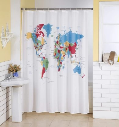 lushomes 200 cm 6 ft polyester shower curtain single curtain