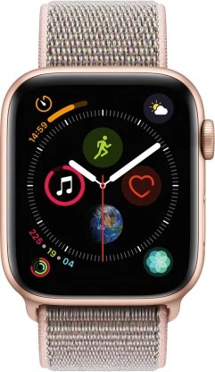 Apple Watch Series 4 GPS + Cellular, 44 mm Gold Aluminium Case with Pink Sand Sport Loop