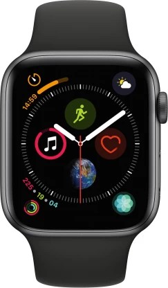 Apple Watch Series 4 GPS 44 mm Space Grey Aluminium Case with Black Sport Band