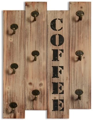 fashion passion india kitchen wall storage brown wall mounted coffee mug hanger rack and tea cup holder organizer for best kitchen decoration cup