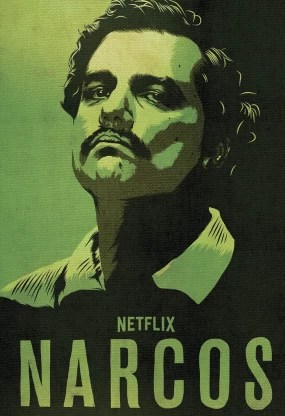 narcos pablo escobar poster for room office 13 inch x 19 inch rolled paper print