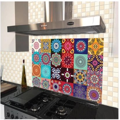 100yellow medium kitchen wall tiles stickers