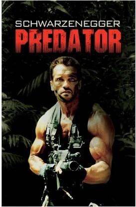 arnold predator movie poster paper print
