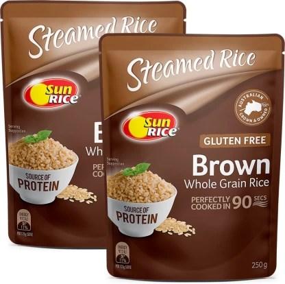 buy sunrice brown microwave rice pack