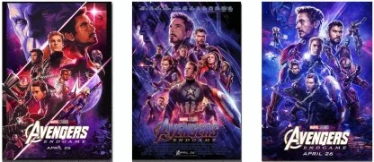 avengers endgame posters combo of 3 posters for room office 13x19 inch rolled paper print