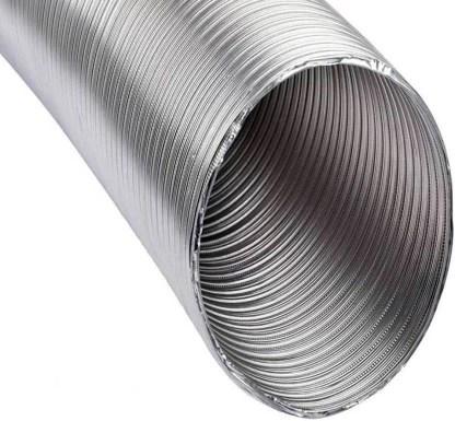 ampereus chimney pipe flexible aluminium exhaust duct pipe 10 feet 6 inch hose pipe