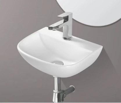 ceramic wall mounted wash basin white 16 x 12 x 5 5 inch glossy finish wall hung basin
