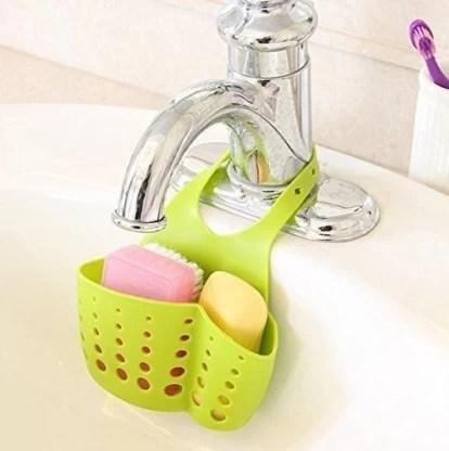 shoppostreet silicone adjustable kitchen portable hanging drain water draining sink sponge holder