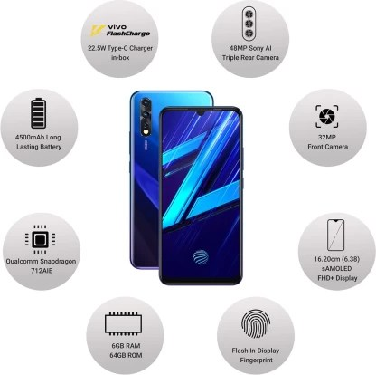 Vivo Z1x (Fusion Blue, 64 GB)