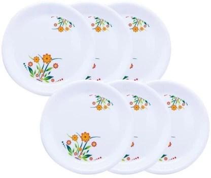 wonder plastic microwave safe unbreakable premium printed round full plates dinner plate