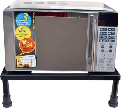 impulse heavy gi metal universal microwave oven fix stand for kitchen platform floor up to 30l iron kitchen trolley