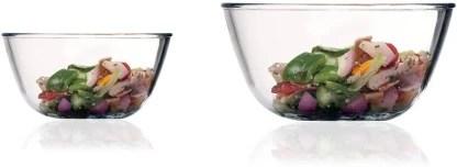 femora borosilicate glass microwave safe 400 ml 2100 ml round mixing borosilicate glass serving bowl