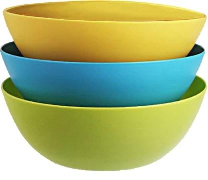 kuber industries plastic microwave safe 3 pieces mixing bowl set 500 ml multi ctktc34731 plastic mixing bowl