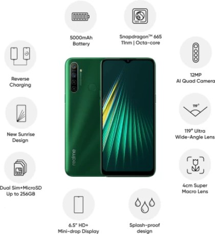 Realme 5i (Forest Green, 64 GB)