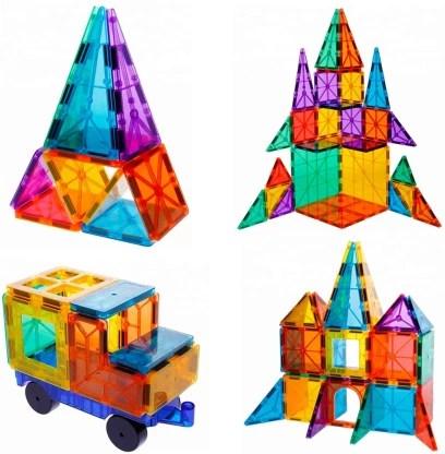 smart saver 3d magnetic magna tile for kids set of 106 blocks to learn shapes colors alphabet magnetic toys develop motor skills