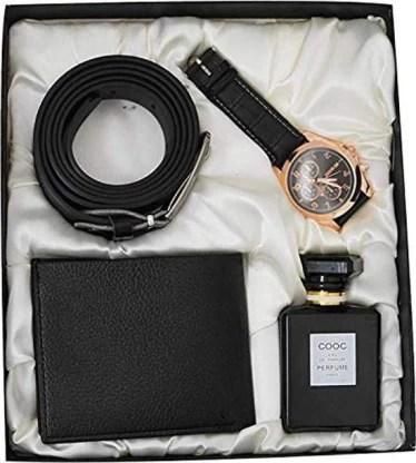 Aica Watch Belt Perfume Wallet Gift Set Price In India Buy Aica Watch Belt Perfume Wallet Gift Set Online At Flipkart Com