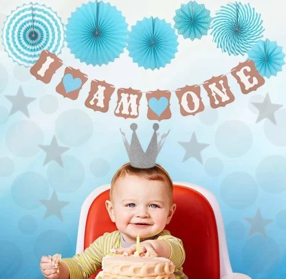 Amfin 1st Birthday Decoration For Baby Boy First Birthday Decorations Boy Birthday Decoration Items Combo I