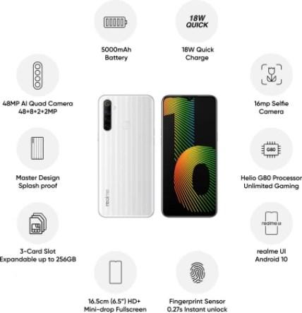 Realme Narzo 10 (That White, 128 GB)
