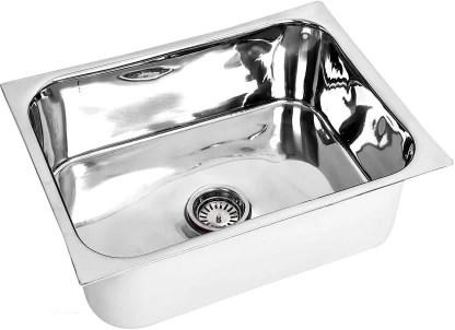 renvox kitchen sink 24x18x9 inches glossy finish stainless steel sink premium range kitchen accessories kitchen sink stainless steel bathroom