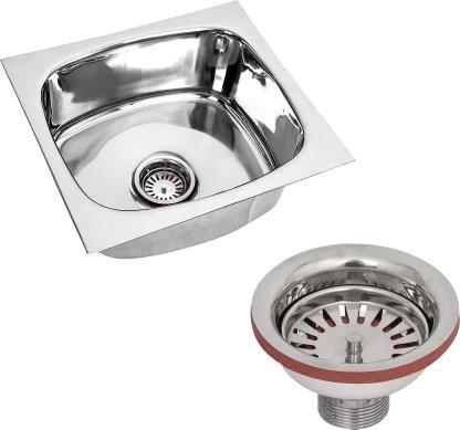 renvox kitchen sink 18x16x9 inches glossy finish stainless steel sink premium range kitchen accessories kitchen sink stainless steel bathroom