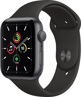 Apple Watch SE GPS 44 mm Space Grey Aluminium Case with Black Sport Band
