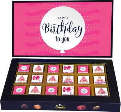 Expelite Birthday Chocolates For Her 18 Pc Birthday Gift For Girl Best Friend Bars Price In India Buy Expelite Birthday Chocolates For Her 18 Pc Birthday Gift For Girl